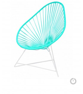 Fauteuil Acapulco vert turquoise