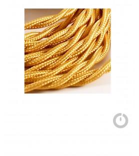 cable textile electrique tresse