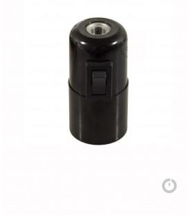 Douille noire E27 avec interrupteur