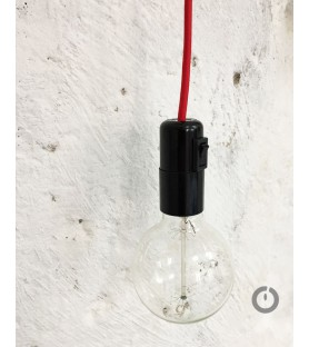 Baladeuse colorée et sa douille en bakelite avec interrupteur