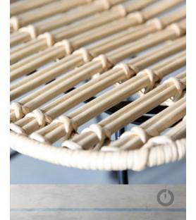 Chaise métal Rotin Ibiza x4