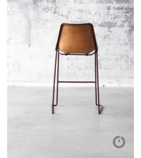 Les Chaises cuir vintage