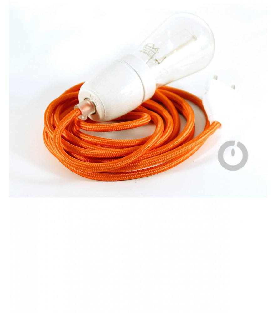 baladeuse cable textile orange