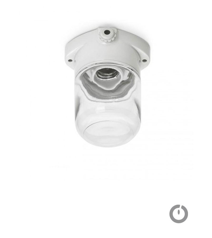 Applique plafonnier porcelaine/ verre