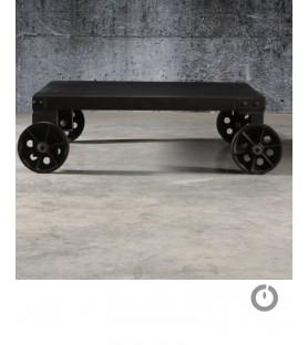 "Table basse métal ""Wheels"" manufactori"