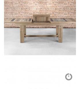 Table de ferme avec rallonge en Teck Manufactori