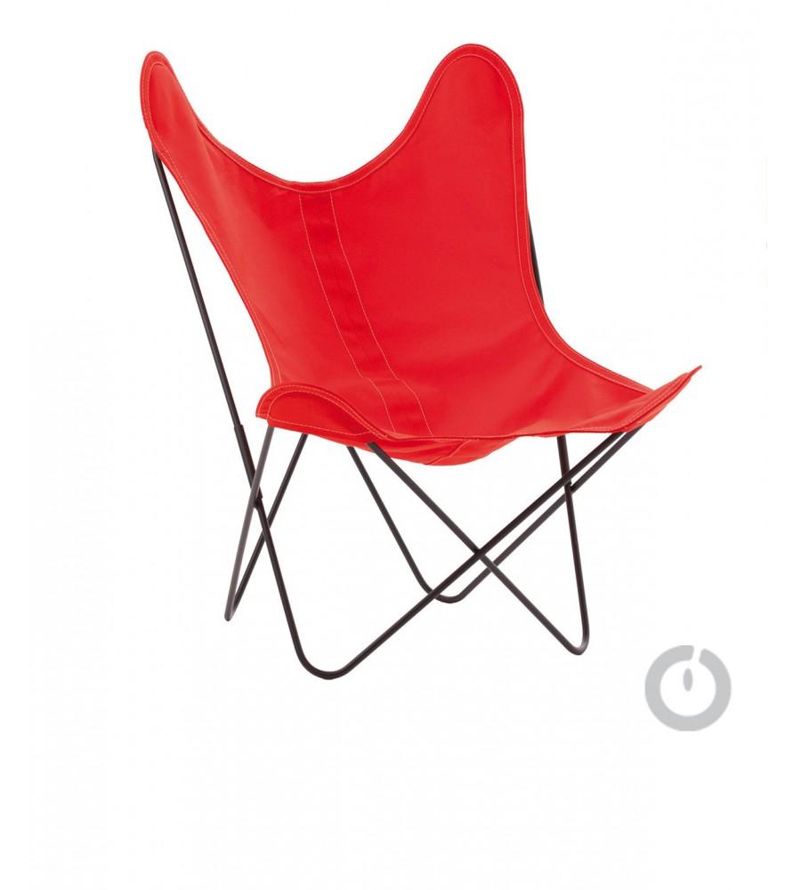 fauteuil aa en coton rouge