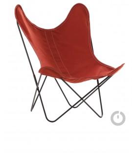 fauteuil aa en coton terracota