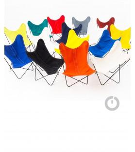 fauteuil aa en coton orange