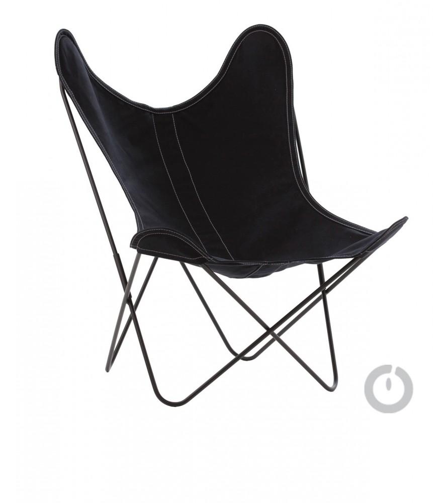fauteuil aa en coton noir
