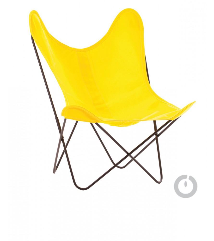 fauteuil aa en coton jaune