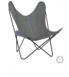 fauteuil aa en coton gris souris