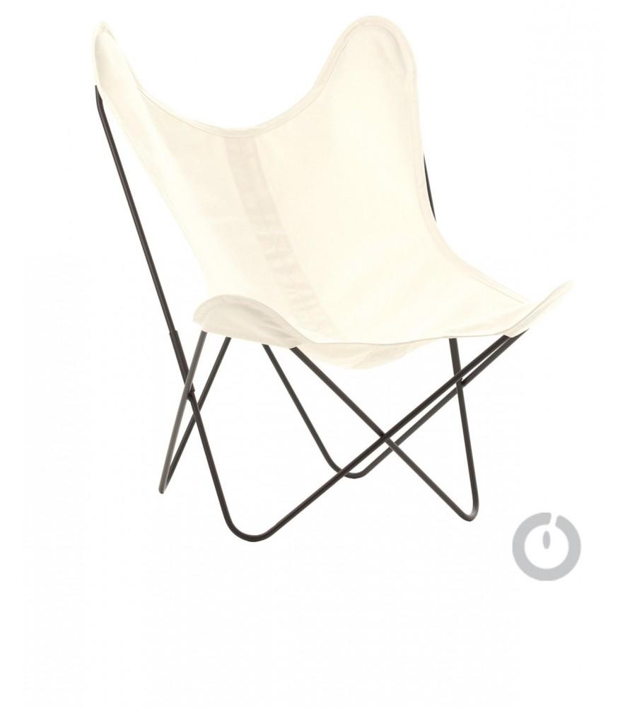 fauteuil aa en coton ecru