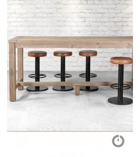 Table haute bodega Teck