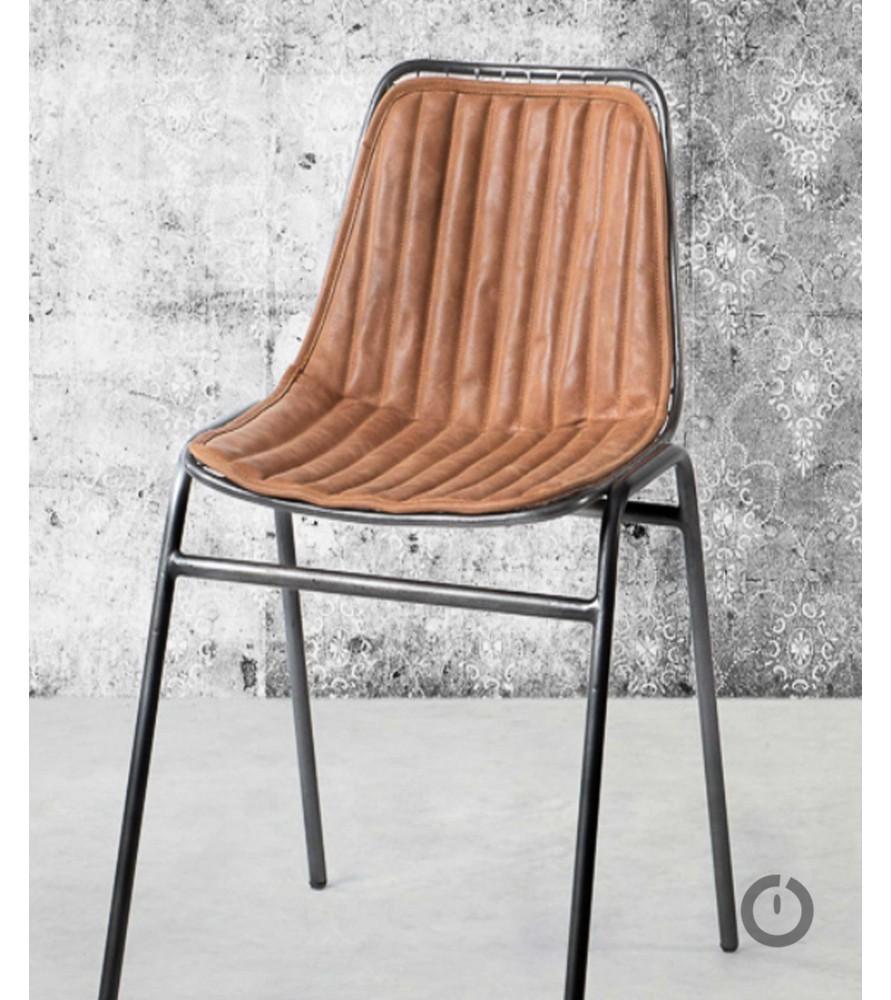 Les 4 chaises Jali en cuir