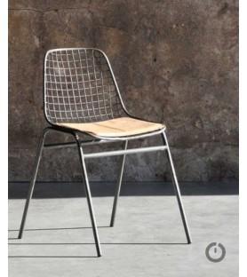 Les 4 chaises Jali mid-cuir