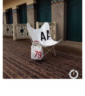 fauteuil aa en coton outremer