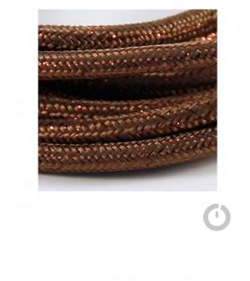 Baladeuse cable textile lame marron et douille porcelaine