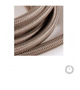 Baladeuse cable textile gris et douille porcelaine