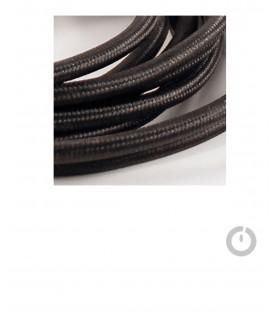 Baladeuse cable textile noir et douille porcelaine