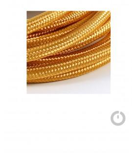 Baladeuse cable textile or et douille porcelaine
