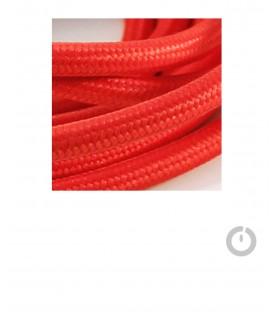 Baladeuse cable textile rouge et douille porcelaine