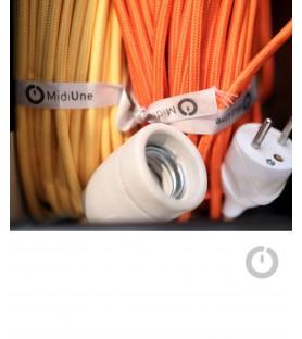 Câble électrique textile rond
