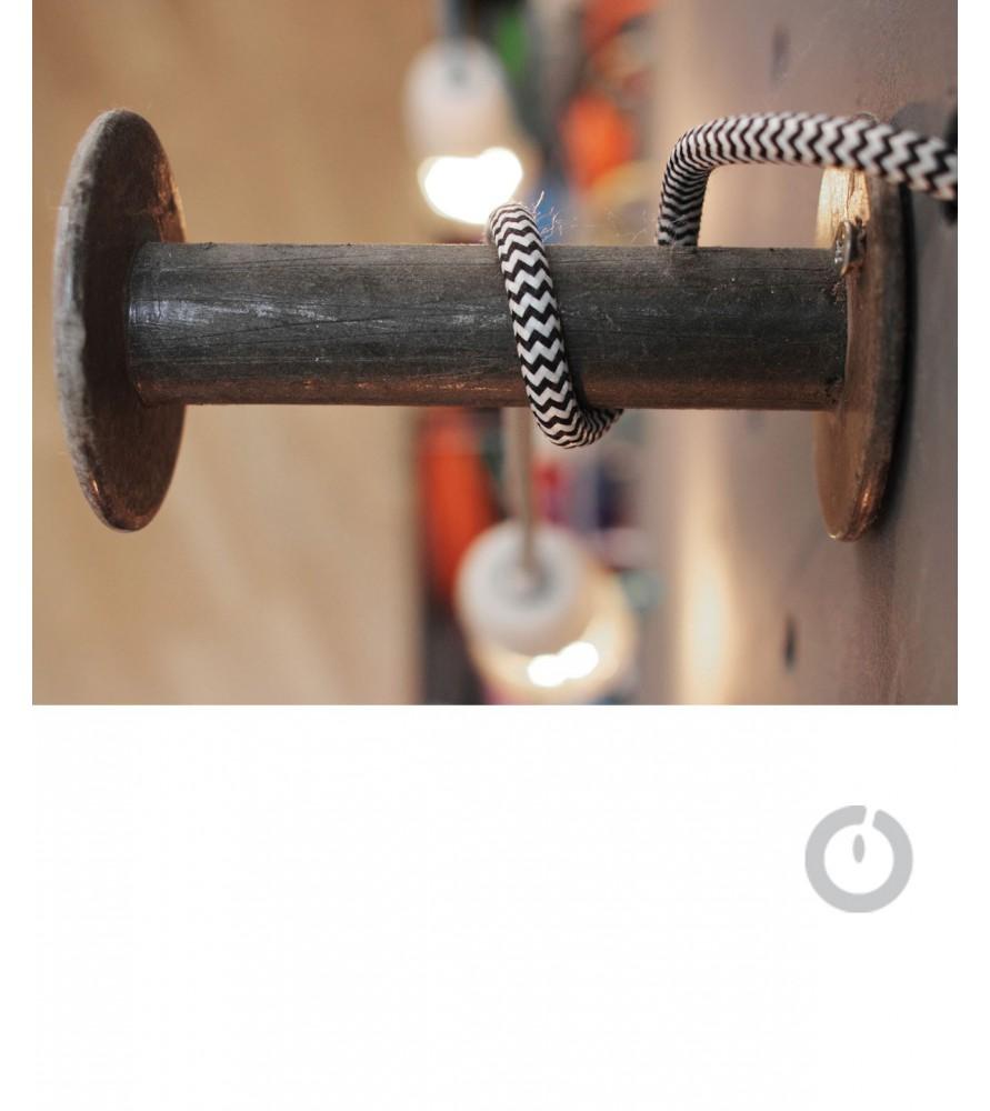 cable textile electrique chiné