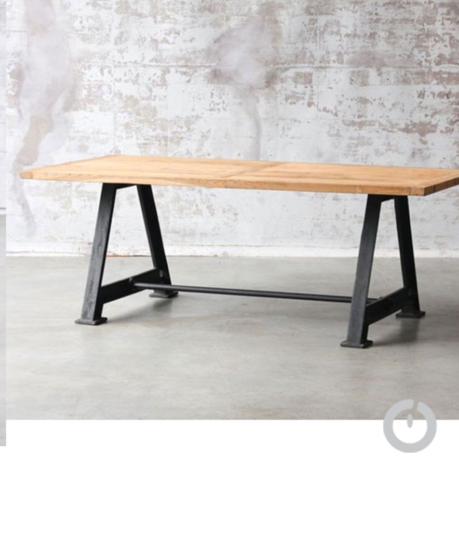Table Industrielle Usine En Teck Manufactori