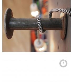 Suspension avec Câble électrique textile chiné