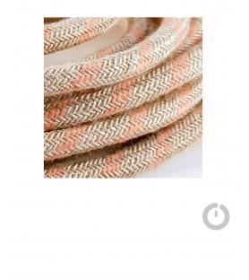 suspension et cable textile electrique en lin
