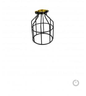Luminaire cage metal noir