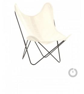 fauteuil aa en coton blanc naturel